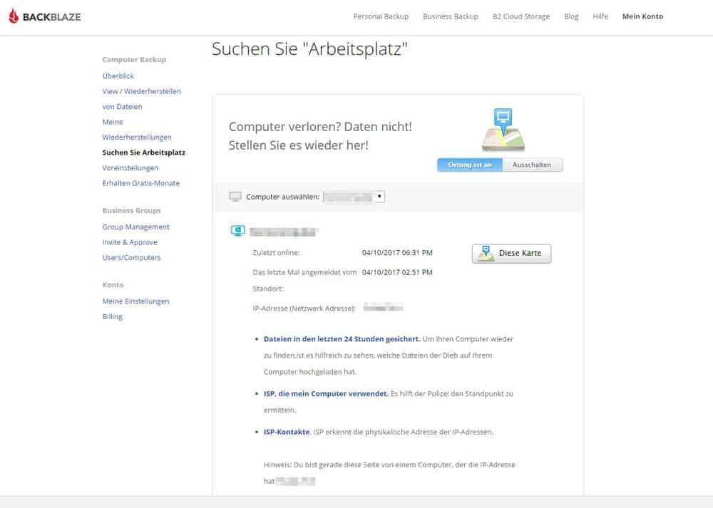 Online-Backup mit Backblaze – Meine Lösung